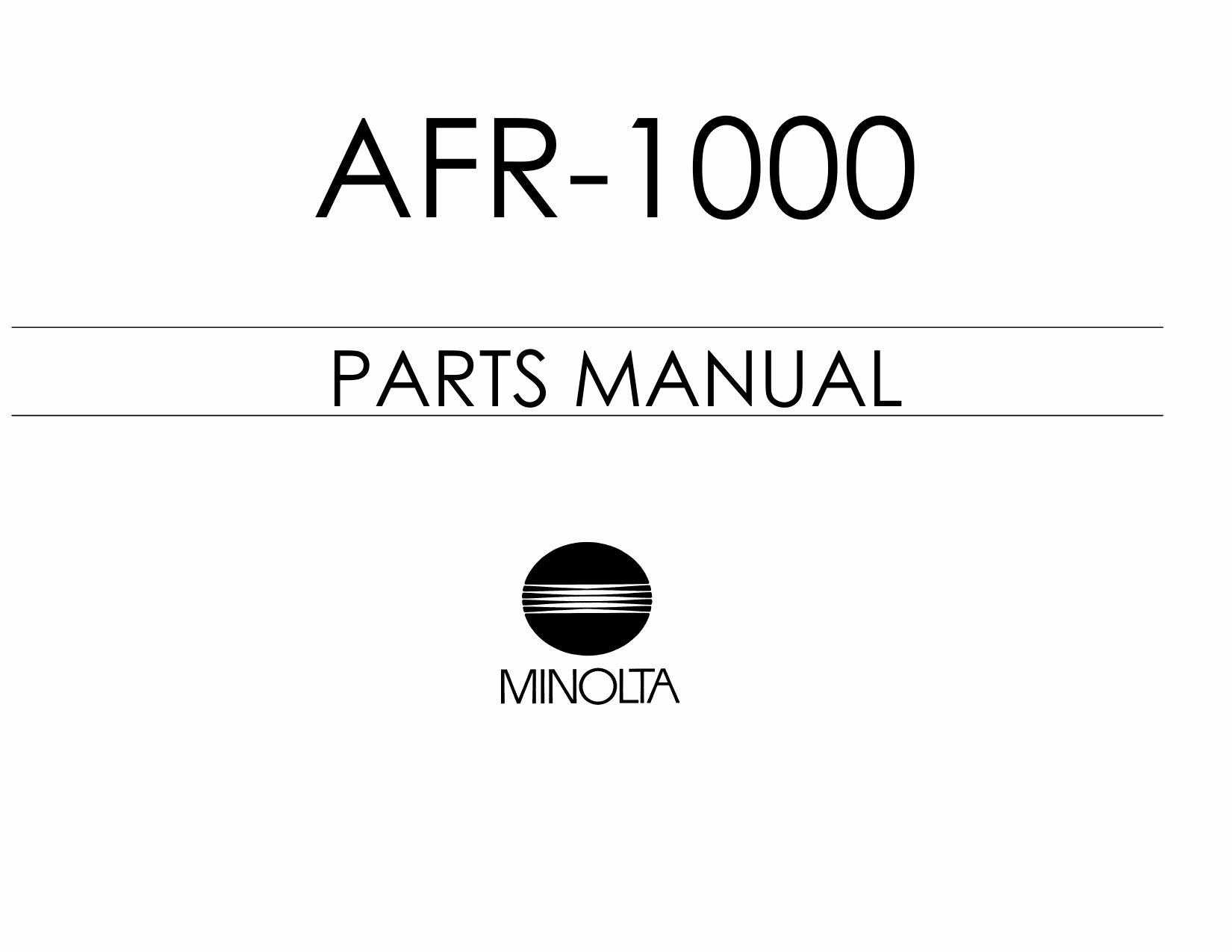 Konica-Minolta Options AFR-1000 Parts Manual